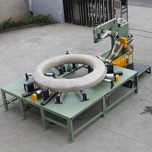 卧式钢丝缠绕机 预应力钢丝线卷包装机
